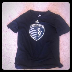 Blue sporting kc tee